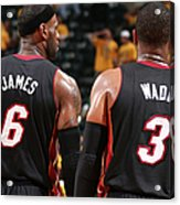 Dwyane Wade and Lebron James Acrylic Print