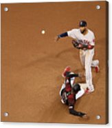 Eduardo Nunez and Adam Jones Acrylic Print