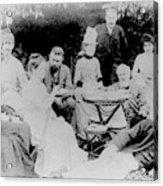 Edward Elgar At A Tea Party With Helen Weaver, 1879 Acrylic Print