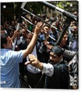 Egyptian journalists protest in Cairo Acrylic Print
