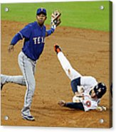 Elvis Andrus and George Springer Acrylic Print