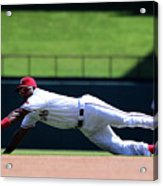 Elvis Andrus and Logan Forsythe Acrylic Print