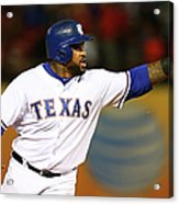 Elvis Andrus and Prince Fielder Acrylic Print