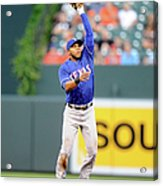 Elvis Andrus and Ryan Flaherty Acrylic Print