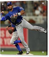 Elvis Andrus and Taylor Motter Acrylic Print