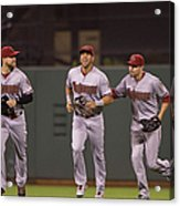 Ender Inciarte and David Peralta Acrylic Print
