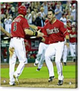 Ender Inciarte, David Peralta, and Paul Goldschmidt Acrylic Print