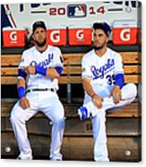 Eric Hosmer And Alex Gordon Acrylic Print