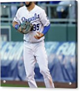 Eric Hosmer and Kelly Johnson Acrylic Print