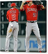 Erick Aybar and Mike Trout Acrylic Print