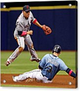Evan Longoria and Asdrubal Cabrera Acrylic Print