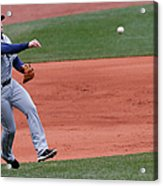 Evan Longoria and Dustin Pedroia Acrylic Print