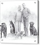 Family Parents And Dogs Acrylic Print