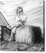 Farm Girl Acrylic Print