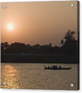 Fishermen on the Mekong River, Phnom Penh, Cambodia, Indochina, Southeast Asia, Asia Acrylic Print
