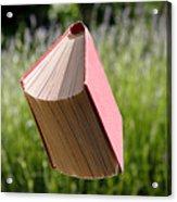 Floating Book Acrylic Print
