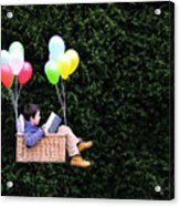 Flying with a good book Acrylic Print