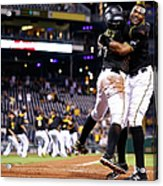 Francisco Cervelli and Gregory Polanco Acrylic Print