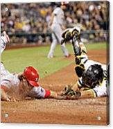 Francisco Cervelli and Mark Reynolds Acrylic Print