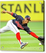 Francisco Lindor and Chase Headley Acrylic Print