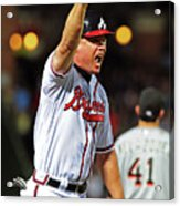 Freddie Freeman and Chipper Jones Acrylic Print