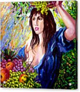 Fruit lady Acrylic Print