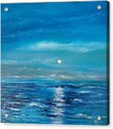 Full Moon Seascape Acrylic Print
