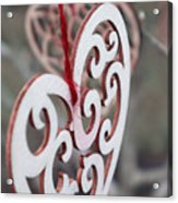 Garden Hearts Acrylic Print