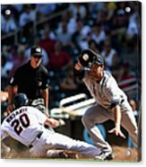 Garrett Jones and Eddie Rosario Acrylic Print