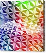 Geo Rainbow Sphere Acrylic Print