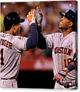 George Springer and Luis Valbuena Acrylic Print