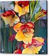 Glad To Be Gladiolas Flowers Acrylic Print