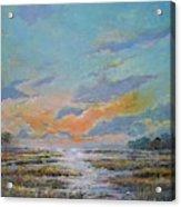 Golden Florida Dusk Acrylic Print