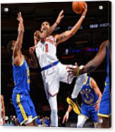 Golden State Warriors v New York Knicks Acrylic Print