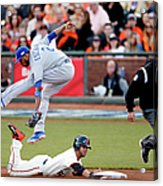 Gregor Blanco and Alcides Escobar Acrylic Print