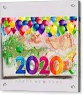 Happy 2020 Acrylic Print