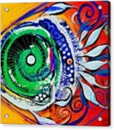 Happy Fish Compliments Transcending Time Acrylic Print
