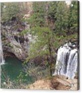 High Angle View Of Fall Creek Falls Acrylic Print