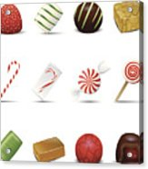 Holiday Candy Icons Acrylic Print