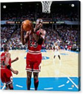 Horace Grant and Michael Jordan Acrylic Print