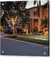 House with Christmas Decocarions Acrylic Print