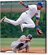 Hunter Pence and Addison Russell Acrylic Print