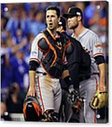 Hunter Strickland and Buster Posey Acrylic Print