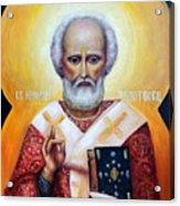 icon of St Nicholas the Wonderworker Acrylic Print