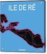 Ile de Re Map Acrylic Print