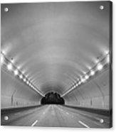 Interior Of Illuminated Tunnel Acrylic Print