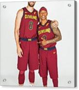 Isaiah Thomas and Kevin Love Acrylic Print