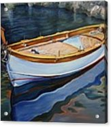Italian Fishing Boat on Water Acrylic Print