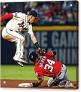 Jace Peterson and Bryce Harper Acrylic Print