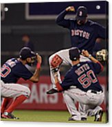Jackie Bradley, Chris Young, and Mookie Betts Acrylic Print